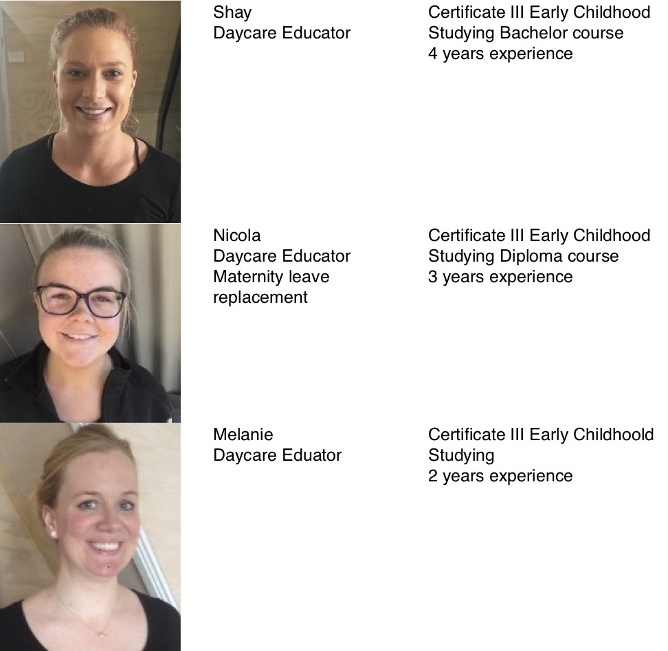Staff photos & qualifications page 3