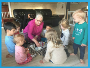 1.4a Children learn to interact in relation to others with care, empathy and respect. This is evident when children show interest in other children and being part of a group.