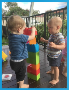 1.4b Children learn to interact in relation to others with care, empathy and respect. This is evident when children engage in and contribute to shared play experiences.